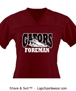 WOMEN'S MAROON JERSEY Design Zoom